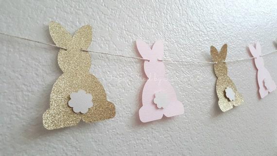 paper garland Rabbit in a hat garland Rabbit garland birthday banner baby shower garland