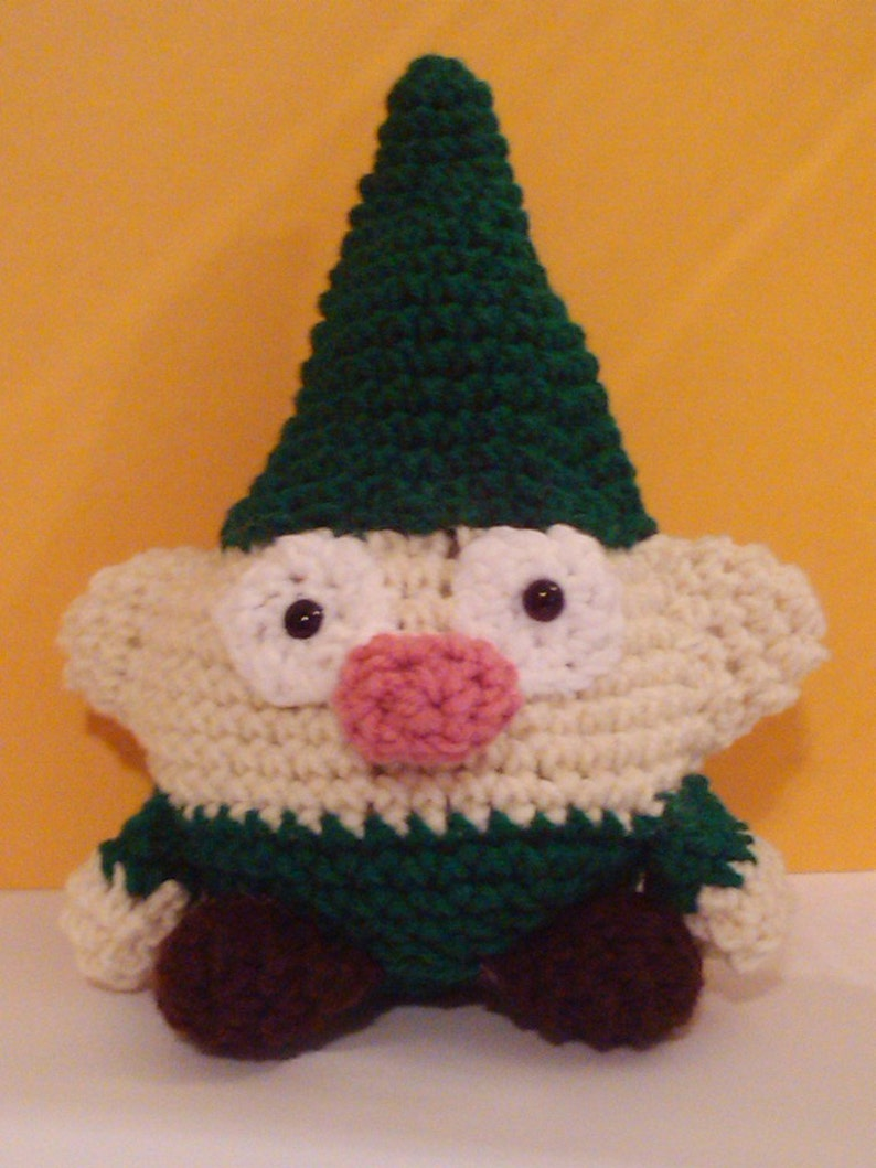 Garden Gnome Crochet Toy Crochet Elf Amigurumi Plush Toy image 0