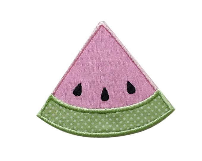 "Iron-on Glitter Pastel Pink Watermelon Applique- 3.25"" Personalizable *** Ships in 72 hours***"