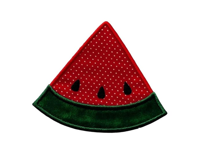 """Iron-on Red Watermelon applique- 3.25"""" Personalize with a name *** Ships in 72 hours***"""