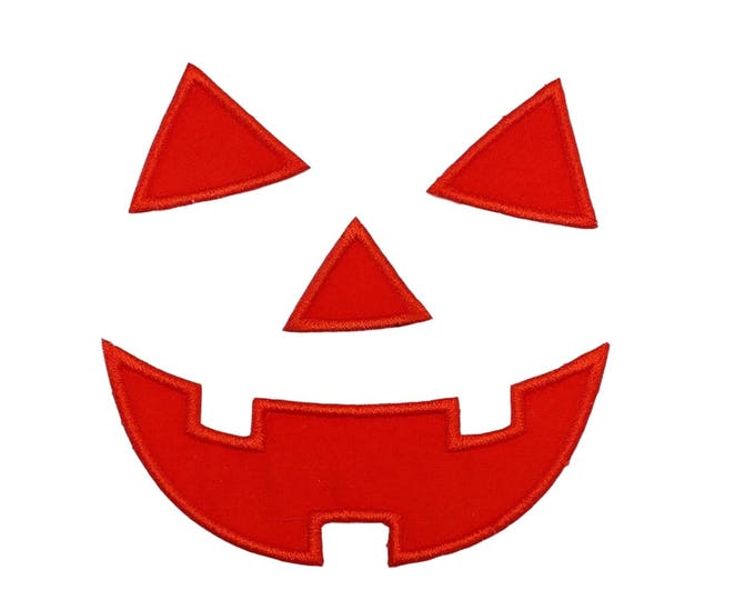 Jack-o-lantern face Halloween iron on applique