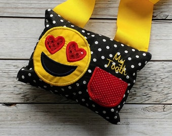 Emoji face tooth fairy pillow- Tooth Chart on back- *** Fast Shipping***