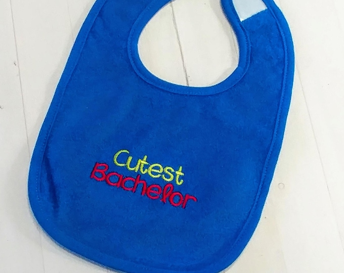 Cutest Bachelor royal blue embroidered Koala Baby cloth baby bibs for 6-12 month old boys