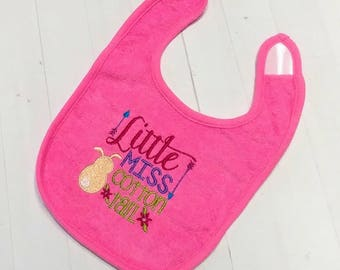 Little Misses Cotton Tail Easter embroidered Koala Baby cloth baby bibs for 6-12 month old girls