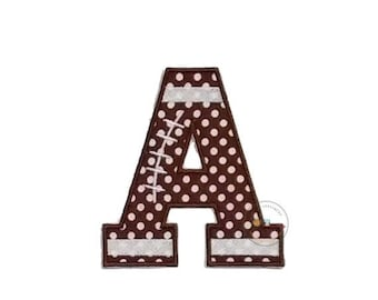 Block football letters iron on appliques
