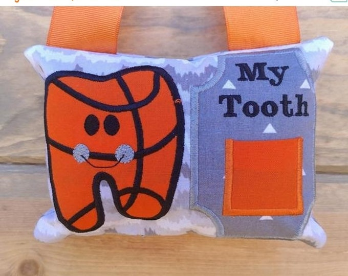 LIQUIDATION SALE Basketball Tooth fairy pocket pillow, gift for boys