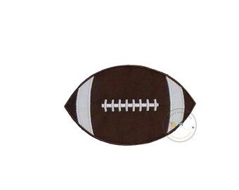 ON SALE Football iron on applique, Fall sports no sew patch , Machine embroidered football fabric applique