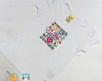 LIQUIDATION SALE For I know the plans I have set for you- Scripture embroidered t shirt for girls- Christian top for toddlers and girls