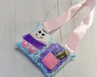 LIQUIDATION SALE Ballerina Tooth fairy pocket pillow for girls with keepsake tooth chart, personalize with child's name, gift for girls