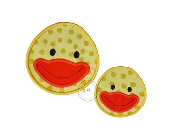 LIQUIDATION SALE Yellow duck face iron t-shirt applique- ready to ship