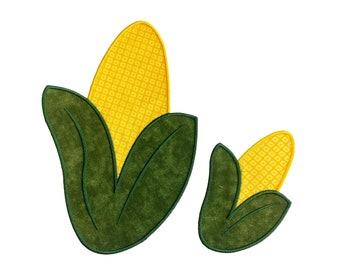 Corn on the cob iron on food patch- 2 sizes available- fall harvest applique- ready to ship