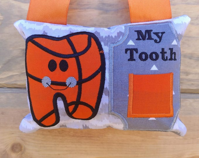 Basketball Tooth fairy pocket pillow, gift for boys