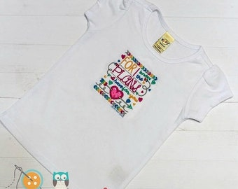 On Sale NOW For I know the plans I have set for you- Scripture embroidered t shirt for girls- Christian top for toddlers and girls