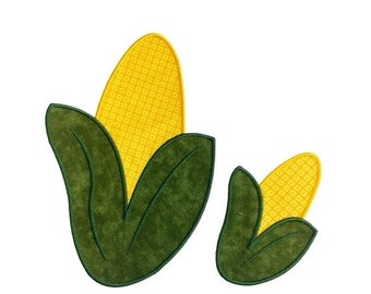 LIQUIDATION SALE Corn on the cob iron on food patch- 2 sizes available- fall harvest applique- ready to ship