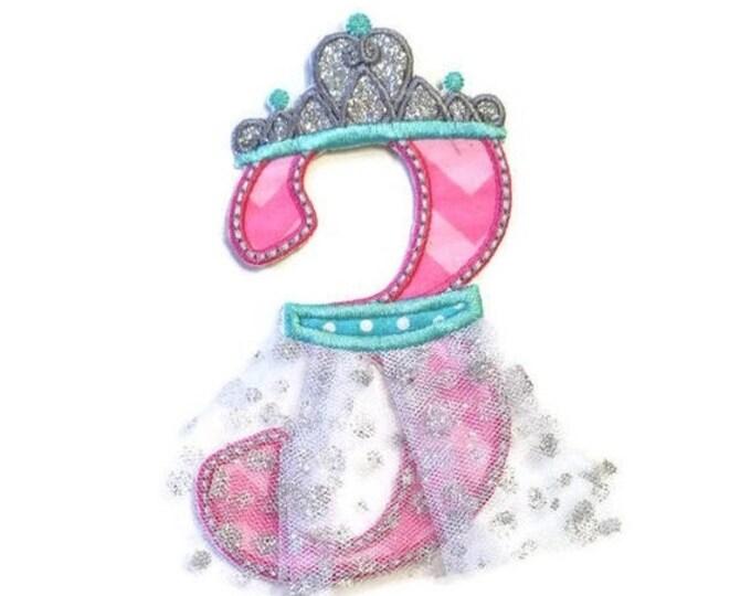 LIQUIDATION SALE Ballerina birthday number 3 iron on applique, number three  birthday ballerina embroidered patch, pink teal ballerina third