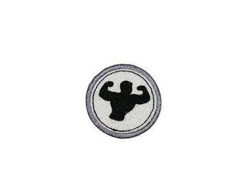 ON SALE Bodybuilding Merit badge- 2 inch iron on patch- ***Ships in 72 Hours***