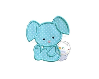 On Sale NOW SMALL Cotton tail bunny 4x4 iron on patch, teal bunny,Machine embroidered Easter bunny patch, Personalize Easter patch, Ready to