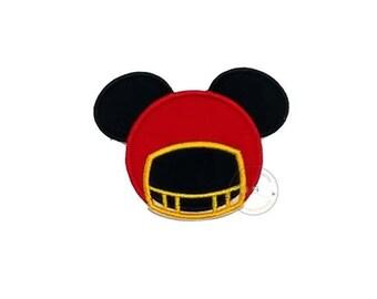Mouse football helmet iron on applique