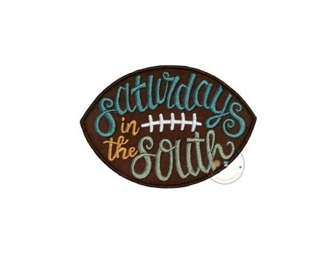 Saturday Night in the South Football  iron on applique