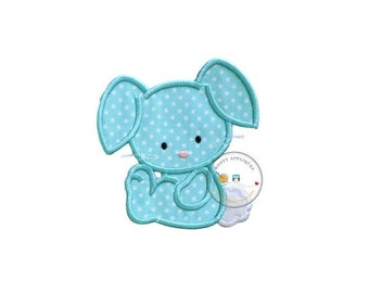 LIQUIDATION SALE Cotton tail bunny iron on patch, teal bunny applique, Machine embroidered Easter bunny patch, Personalize Easter patch, Rea