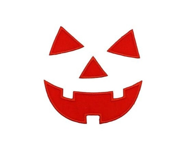 Jack-o-lantern face Halloween iron on applique