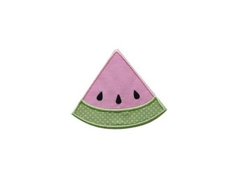 """LIQUIDATION SALE Iron-on Glitter Pastel Pink Watermelon Applique- 3.25"""" Personalizable *** Ships in 72 hours***"""