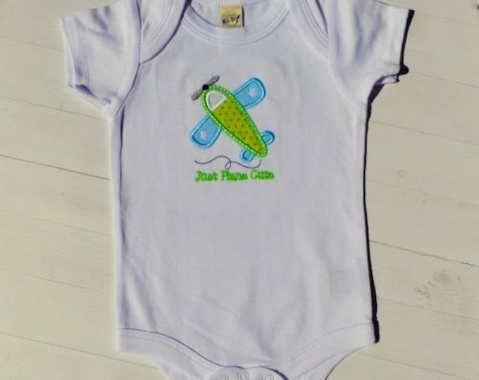 LIQUIDATION SALE Just plane cute embroidered t shirt -tee for boy- tops for toddlers