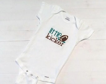 Little Kicker embroidered t shirt for infant and toddler