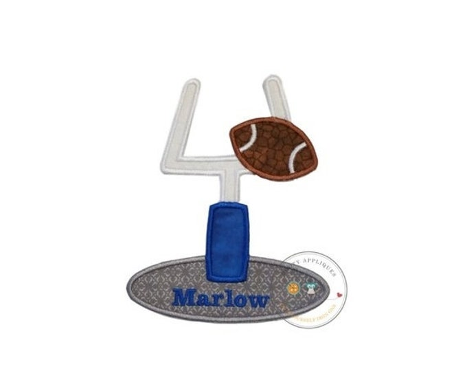LIQUIDATION SALE Football goal machine embroidered iron on applique, football party no sew fabric iron on patch, do it yourself boutique fas