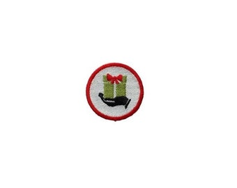 LIQUIDATION SALE Gift Giving Merit badge- 2 inch iron on patch- ***Ships in 72 Hours***