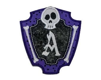 Halloween Bone frame alpha- spooky letters
