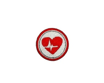 ON SALE Health Heart Merit badge- 2 inch iron on patch- ***Ships in 72 Hours***