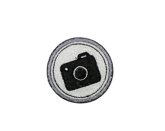 LIQUIDATION SALE Photography Camera Merit badge- 2 inch iron on patch- ***Ships in 72 Hours***
