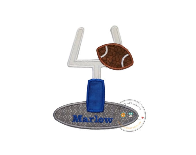 Football goal machine embroidered iron on applique, football party no sew fabric iron on patch, do it yourself boutique fashions