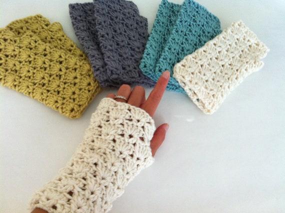 Häkeln Sie Shells Fingerlose Handschuhe häkeln Sie Handgelenk | Etsy