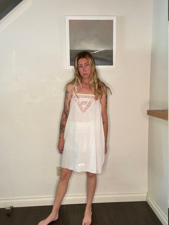 Antique Slip, 20s, 30s, lace slip, white, lace yok