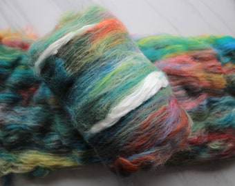 A ROOM with a VIEW - Luxury Art Batts to Spin and Felt, Felting Fiber, Spinning Fiber, Mulberry Silk, Merino Wool