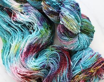 PAGLIACCI on Squiggle Sock, Indie-Dyed Yarn, Yarn for Knitting, Yarn for Crochet, Slub Yarn, Fingering-Weight Variegated Yarn
