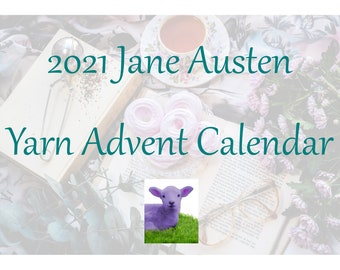 Jane Austen Yarn Advent Calendar, Purple Lamb Advent Calendar, Knitter's Advent Calendar, Crochet Advent Calendar, 24-day Advent Calendar