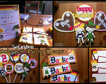 Oktoberfest Party Decorations-Design Your Own Package