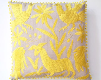 OTOMI PILLOW COVER - Yellow- Ready to Ship