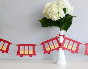 Daniel Tiger Trolley Inspired Paper Garland - 6 Feet - San Francisco Garland