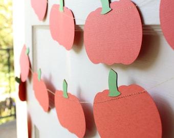 Pumpkin Paper Garland - 6 Feet