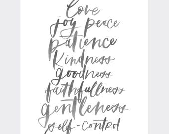 Fruits of the Spirit | love joy peace patience kindness goodness faithfulness gentleness self-control