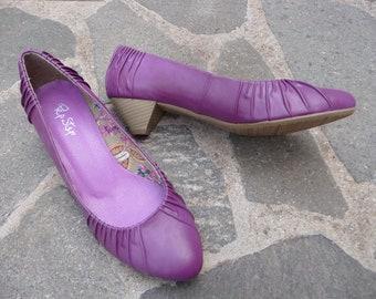a13da6292bcb53 Pumps 40 vintage Absatzschuh Schuhe ungetragen