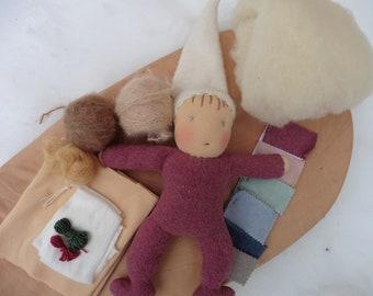 Eco Material Sludge Pearl Waldorf-Art Organic Sac Doll Smud Poucher
