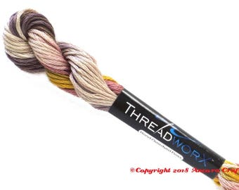 Variegated Embroidery Floss ThreadworX 1037 Tiger Butter
