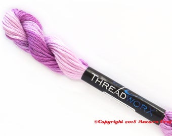 Variegated Embroidery Floss ThreadworX 1126 - Raspberry Cream