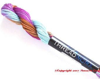 Variegated Embroidery Floss ThreadworX 1011 Indian Tapestry