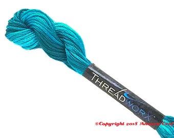 Variegated Embroidery Floss ThreadworX 11382 Blue Swirl